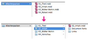 InDesign Skript:Alle InDesign Dateien in einem Ordner verpacken